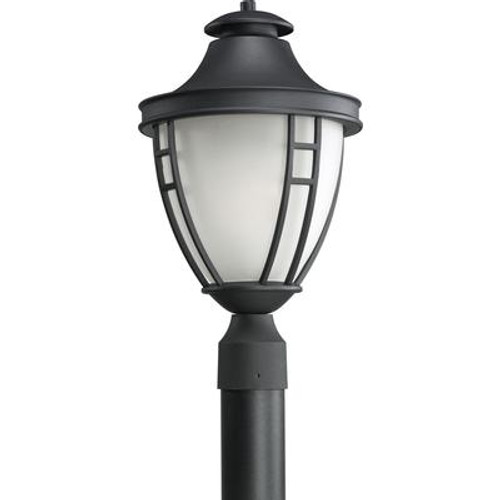 Fairview Collection Textured Black 1-light Post Lantern