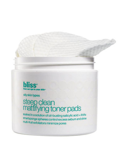Bliss Steep Clean Mattifying Toner Pads - No Colour