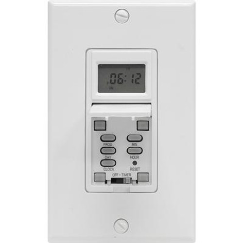 In Wall Digital 7 Day Timer With Wall Plate