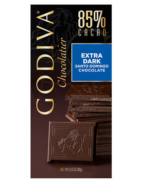Godiva 85% Cacao Extra Dark Santo Domingo Chocolate - Chocolate