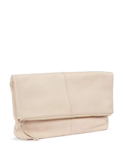 424 Fifth Leather Fold Over Clutch - Camel