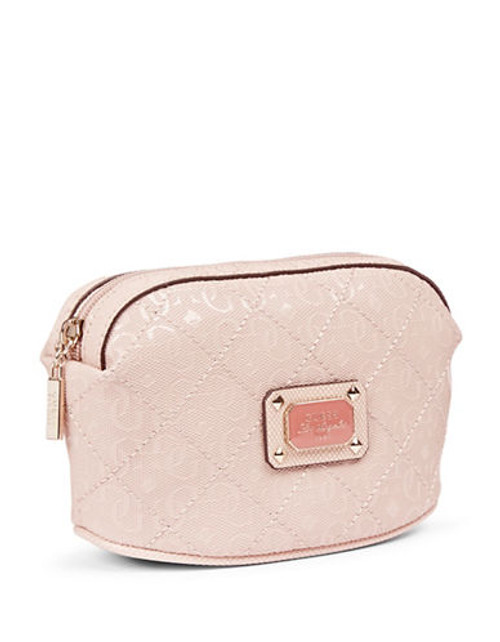 Guess Juliet Quilted Signature Cosmetics Pouch - Pink