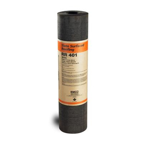 Slate Surface Roll Roofing Dark Brown
