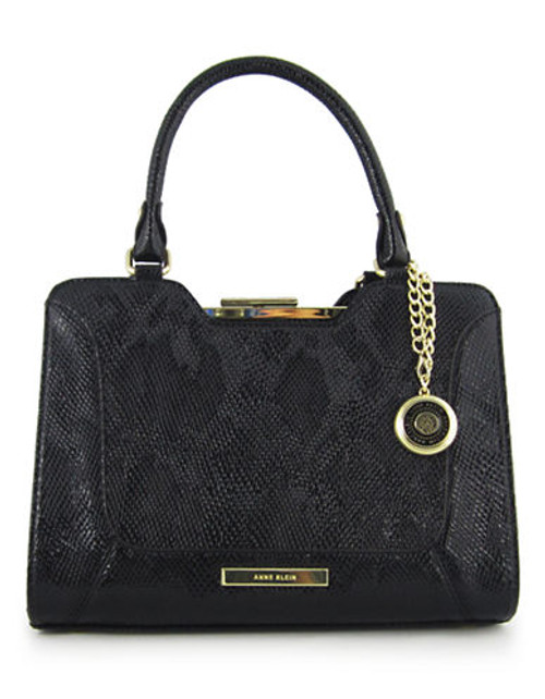 Anne Klein Frame It medium Satchel - Black