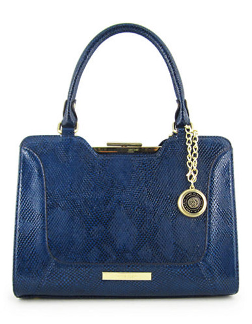Anne Klein Frame It medium Satchel - Blue