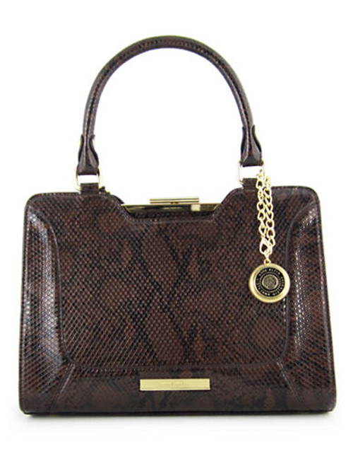 Anne Klein Frame It medium Satchel - Brown