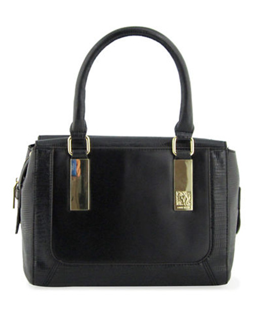 Anne Klein Bar It All Medium Satchel - Black