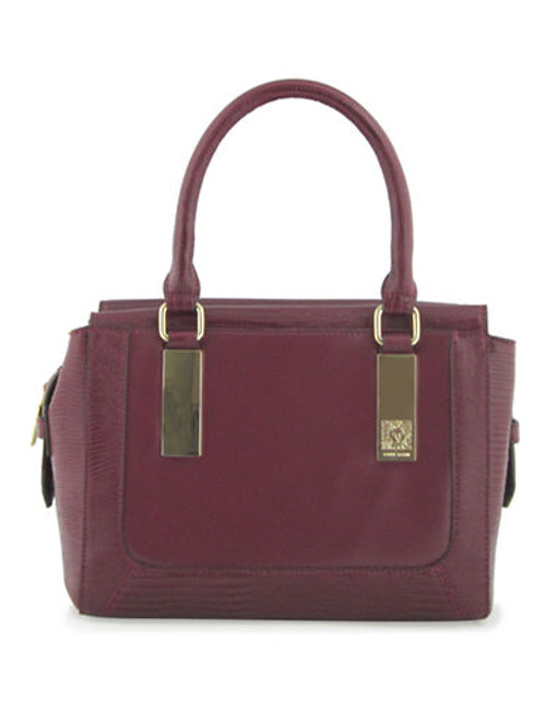 Anne Klein Bar It All Medium Satchel - Raisin