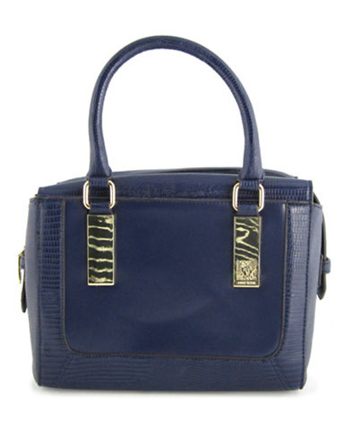 Anne Klein Bar It All Medium Satchel - Navy