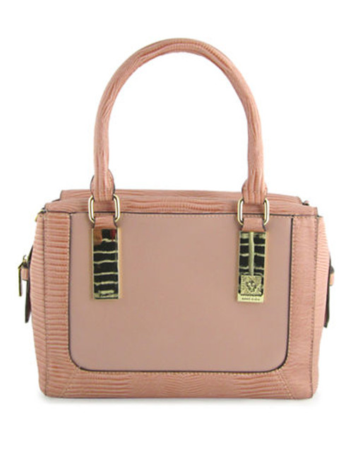 Anne Klein Bar It All Medium Satchel - Mauve