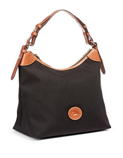 Dooney & Bourke Erica Nylon Hobo Handbag - Black