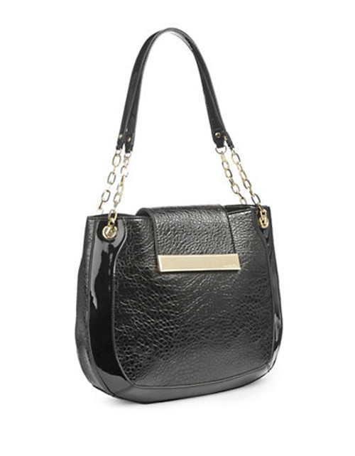 Anne Klein Against the Grain Large Shoulder Bag - Black