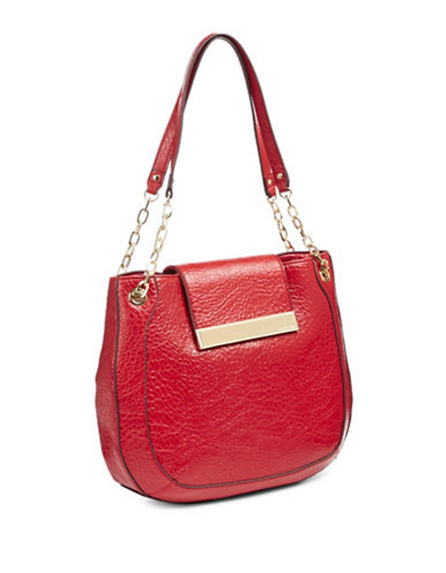 Anne Klein Against the Grain Large Shoulder Bag - Carnation