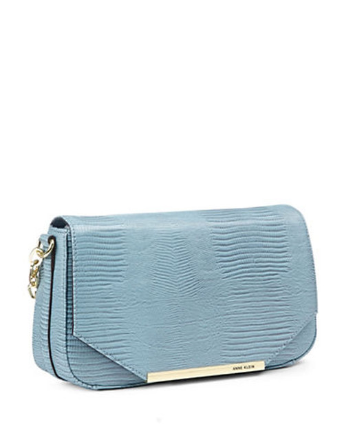 Anne Klein Leo Lizard II Shoulder Bag - Blue belle