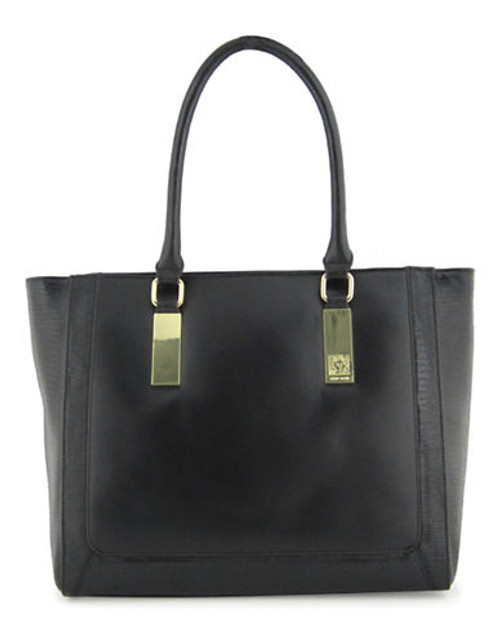Anne Klein Bar It All Large Tote - Black