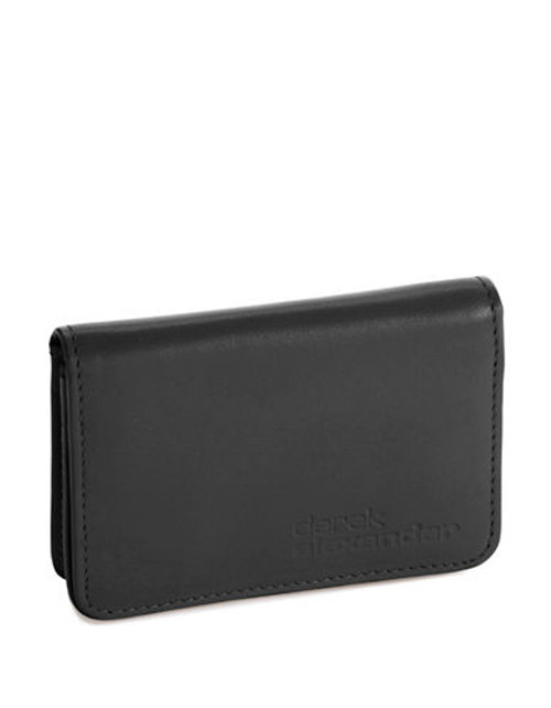 Derek Alexander Simple Business Card and Credit Card Case - Black