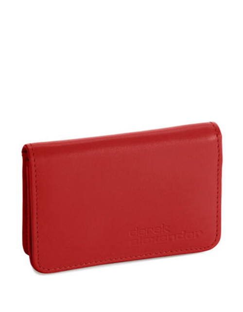Derek Alexander Simple Business Card and Credit Card Case - Red