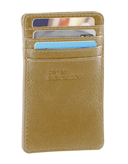 Derek Alexander Unisex Card Holder - Beige