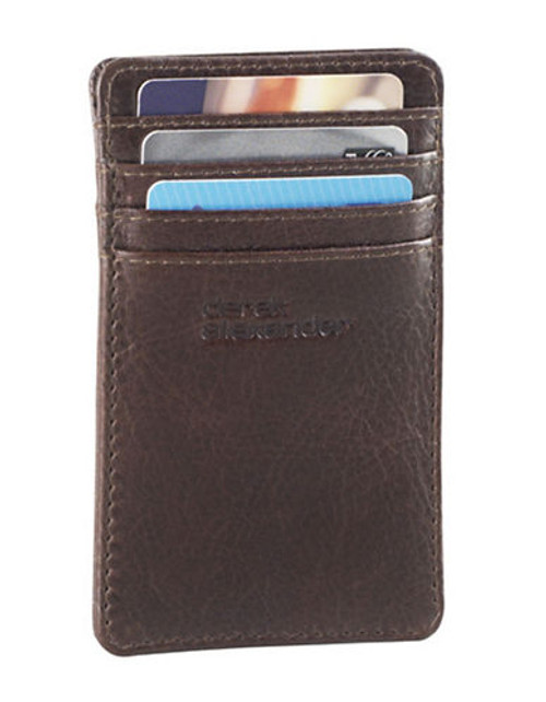 Derek Alexander Unisex Card Holder - Brown
