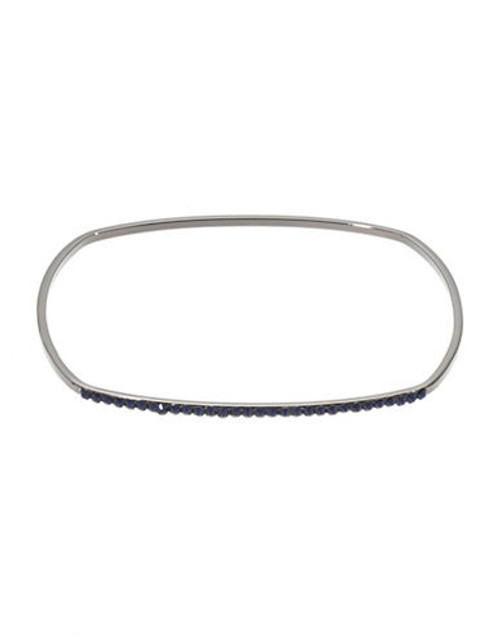 424 Fifth Thin Crystal Wire Bangle - blue