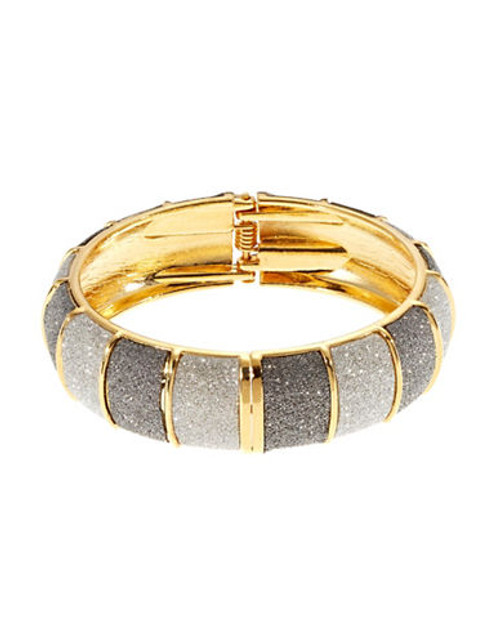 A.B.S. By Allen Schwartz Colourblock Glitter Bangle - Gold