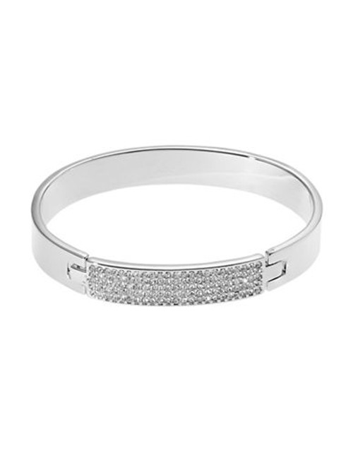 A.B.S. By Allen Schwartz Faux Crystal Bangle - Silver
