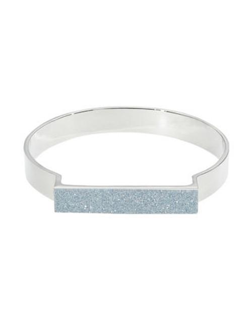 A.B.S. By Allen Schwartz Glitter Bangle Bracelet - Silver