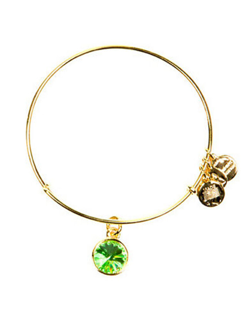 Alex And Ani August Birthstone Charm Bangle - Gold