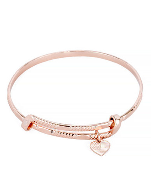 Alex And Ani America the Beautiful Coll Rose Gold Plated No Stone Bangle - Rose Gold