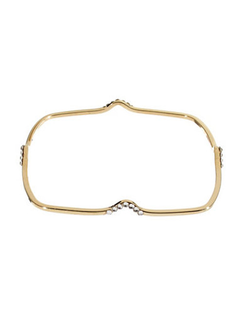424 Fifth Embellished Square Bangle Bracelet - gold