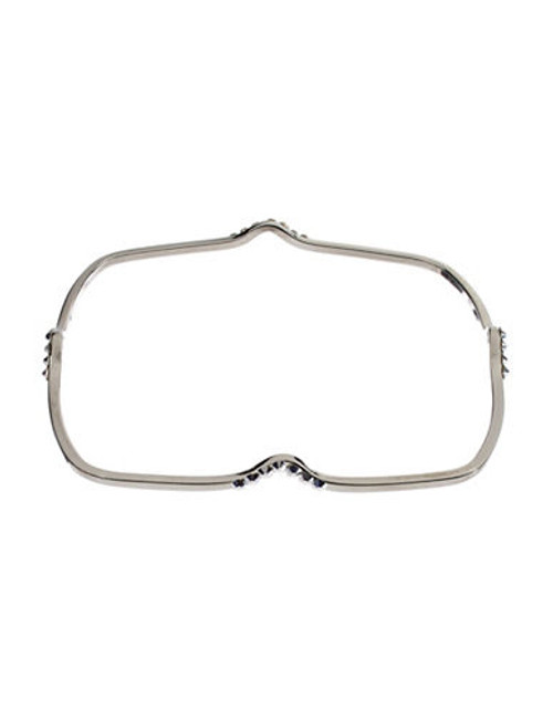424 Fifth Embellished Square Bangle Bracelet - SILVER
