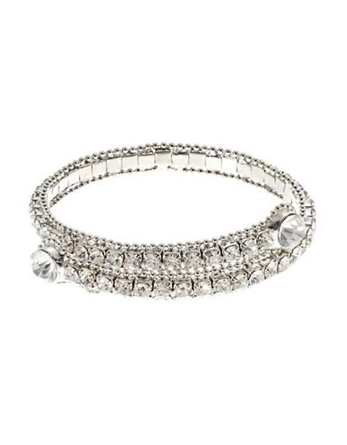 A.B.S. By Allen Schwartz Crystal Coil Bracelet - Silver
