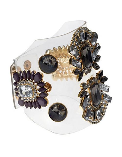 424 Fifth invisible Crystal Bracelet - Black