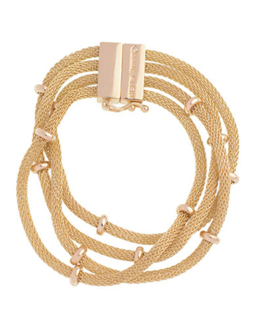 """Anne Klein 7.5"""" Multi Row Line Bracelet - Gold"""
