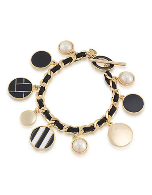 Carolee Espresso Martini Charm Bracelet Gold Tone  Bracelet - Tri Colour