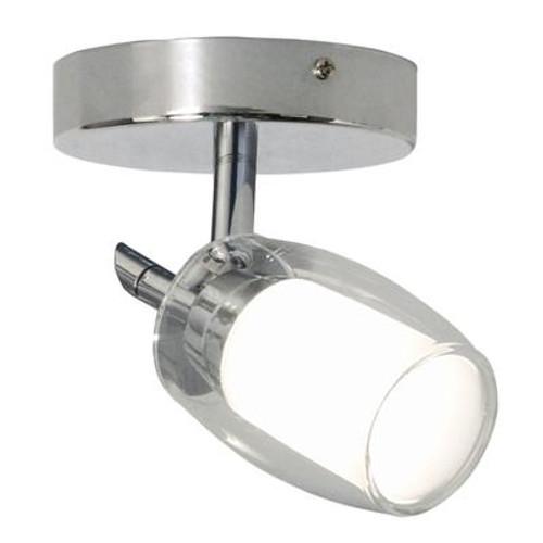 1 Light Flushmount G9 Chrome With Twin Glass