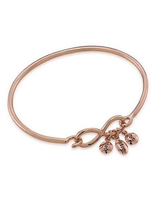 Carolee Word Play Sentiments BE Charm Bangle Bracelet Rose Gold Plated Charm Bracelet - Rose Gold