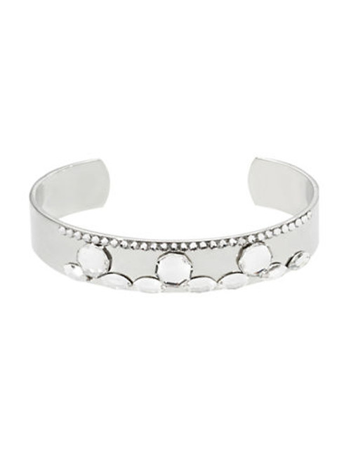 424 Fifth Crystal Cluster Cuff - silver