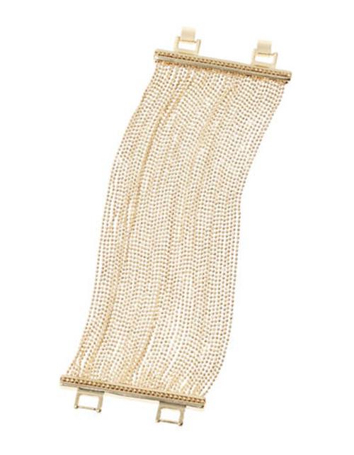 A.B.S. By Allen Schwartz Bead Chain Cuff Bracelet - Gold