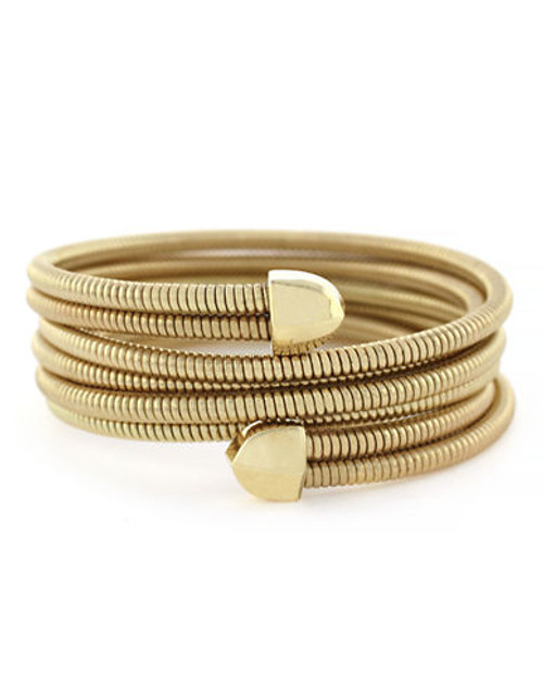 Bcbgeneration Coil Bracelet Item Gold Plated Stretch Wrap Bracelet - Gold