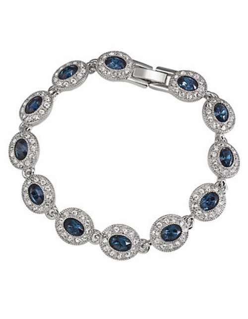 Carolee Simply Blue Oval Stone Pave Bracelet - Blue