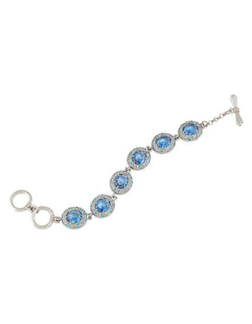 Carolee Nassau Nights Blue Linked Bracelet - Blue