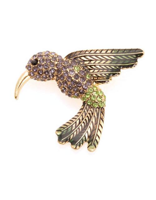 Jones New York Boxed Hummingbird Pin - Gold