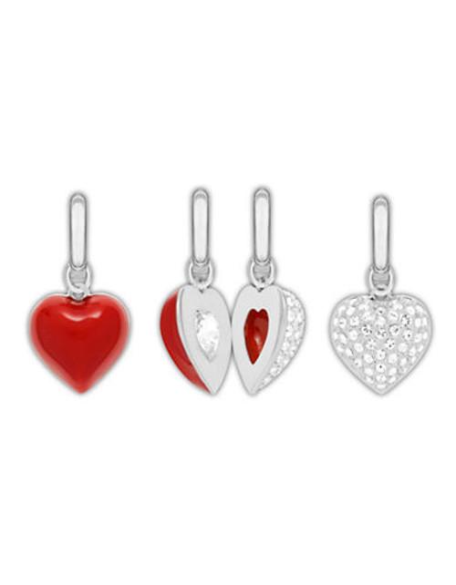 Swarovski 2 In 1 Heart Charms - Red