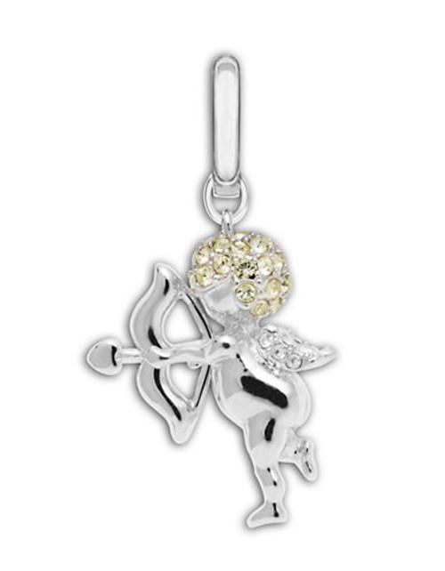 Swarovski Cupid Angel Charm - Silver