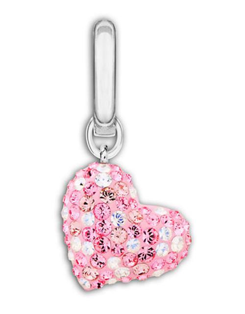 Swarovski Alana Heart Charm - Pink