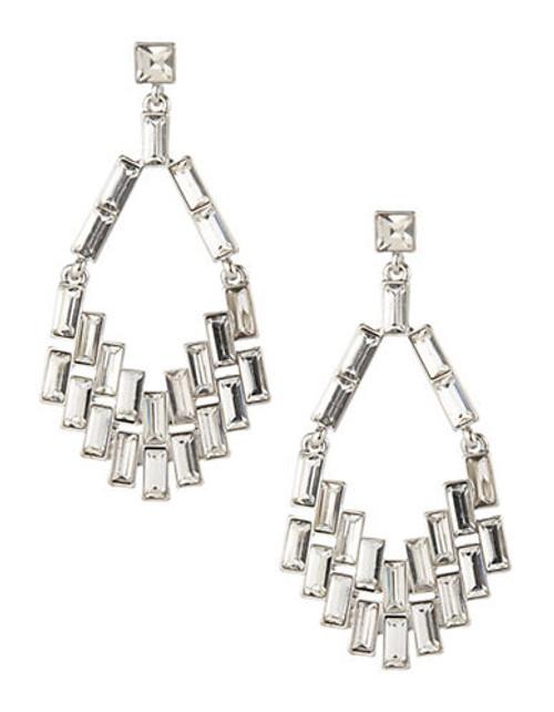 A.B.S. By Allen Schwartz Geometric Chandelier Earrings - Silver