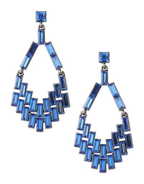 A.B.S. By Allen Schwartz Geometric Chandelier Earrings - Multi-Coloured