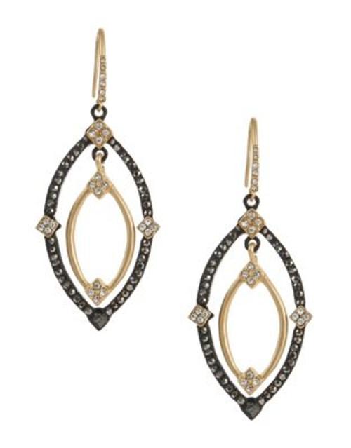 A.B.S. By Allen Schwartz Embellished Navette Orbital Drop Earrings - GOLD