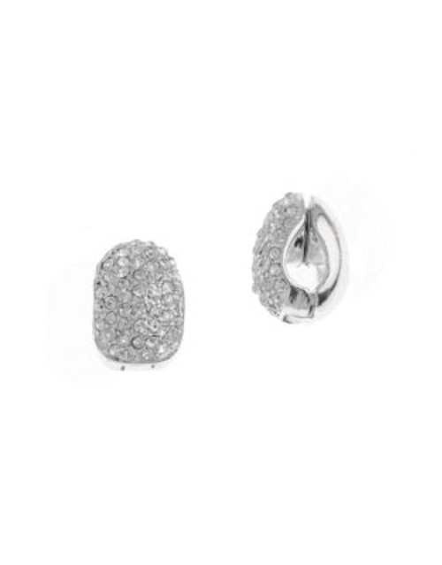 Anne Klein C Hoop Pave Clip Earring - CRYSTAL